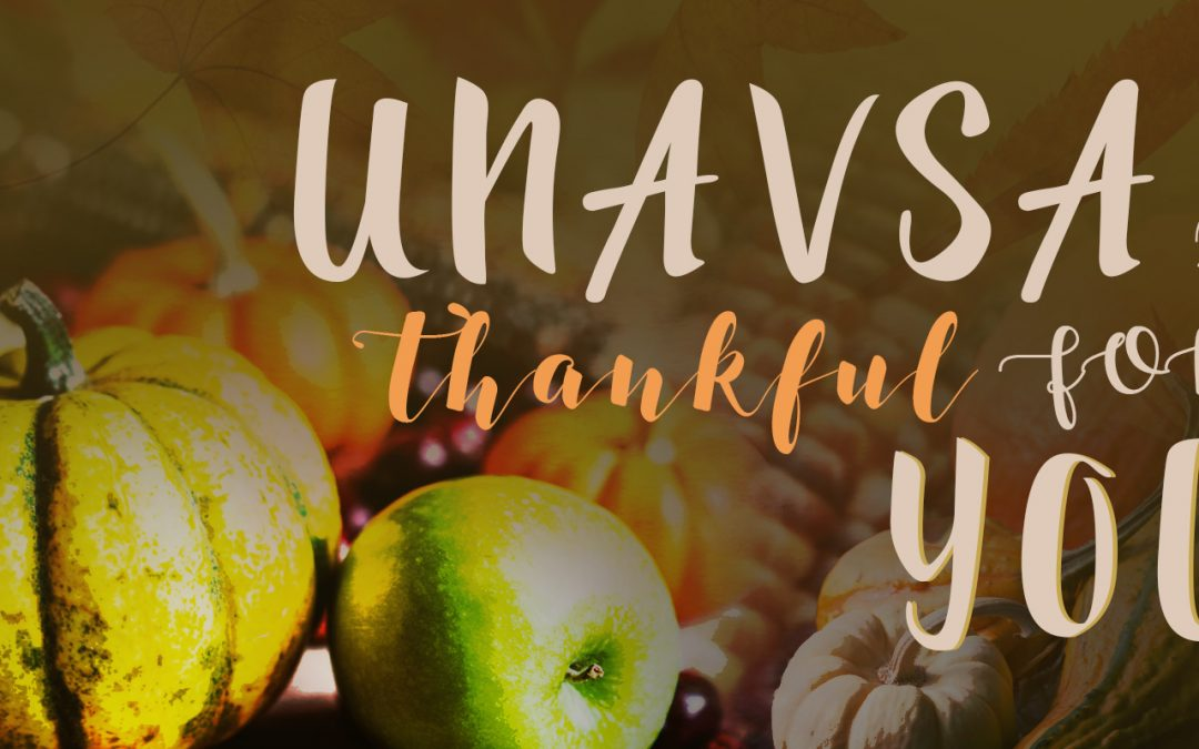 UNAVSA is Thankful for You!
