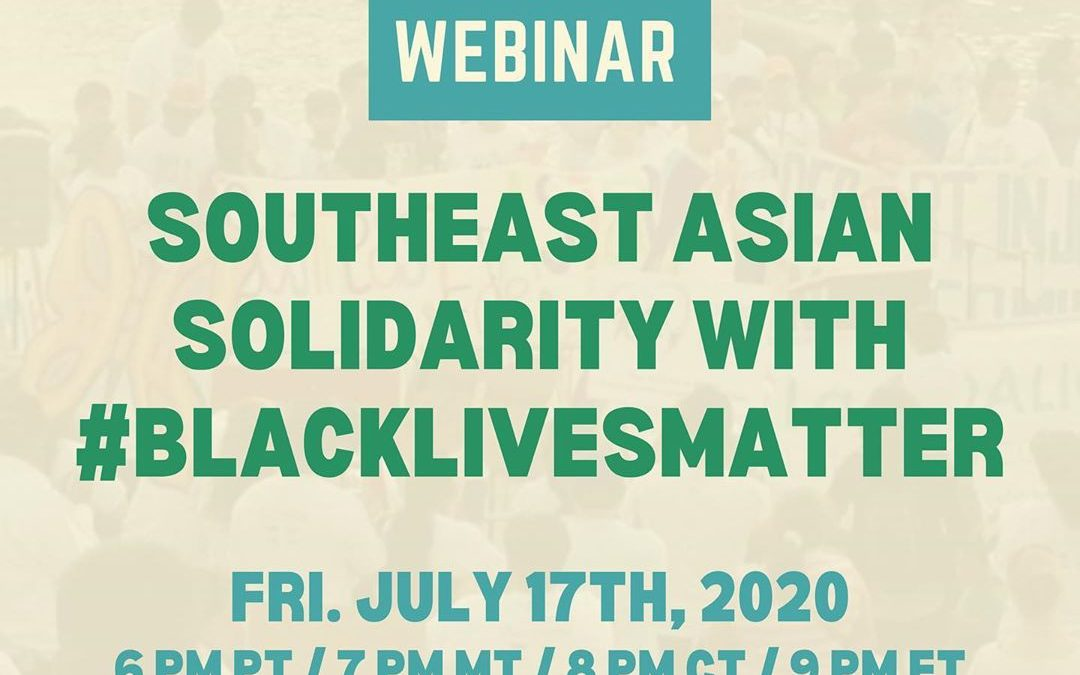 Southeast Asian Solidarity with #BlackLivesMatter
