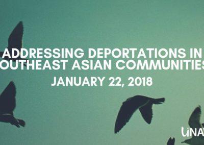 Addressing Deportations in Southeast Asian Communities