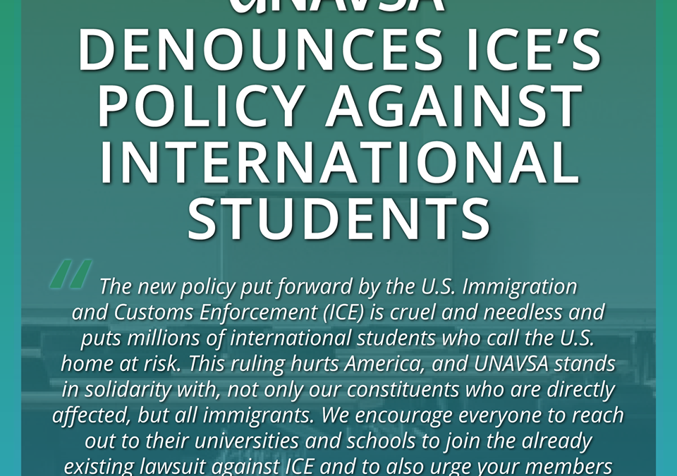 Statement Against ICE Policy on International Students
