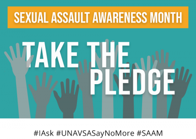 Sexual Assault Awareness Month #NoMore Pledge